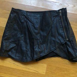Vegan leather free people mini skirt